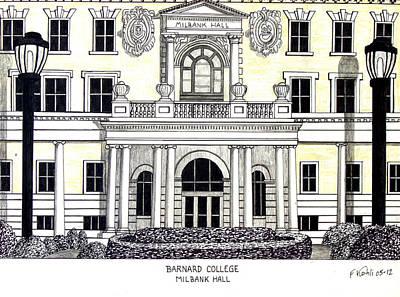 Barnard College Print by Frederic Kohli