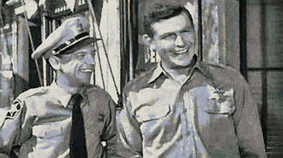 Barney Fife And Andy Taylor Print by Paulette B Wright