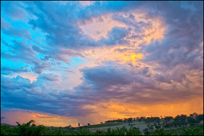 Barossa Valley Sunset Print by Casey Grant
