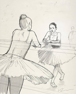 Ballet Drawing - Barre. by H James Hoff