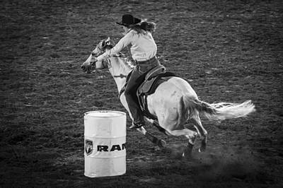 Barrel Racing Photograph - Around by Caitlyn  Grasso