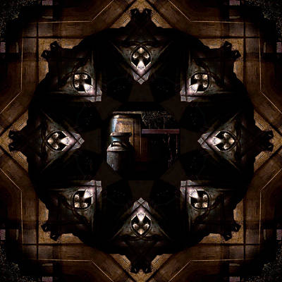 Barrels In The Barn Kaleidoscope Print by Jim Finch