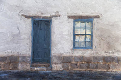 Detail Mixed Media - Barrio Historico Tucson Painterly Look by Carol Leigh