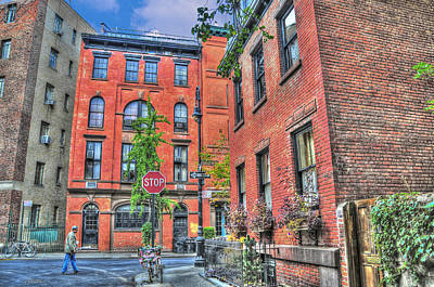 Townhouses Photograph - Barrow Street Stroll by Randy Aveille