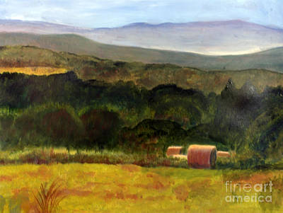 Barton Painting - Barton Haystacks by Donna Walsh