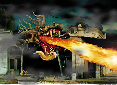 Salamanders Digital Art - Barton The Mutant Salamander by Doug LaRue