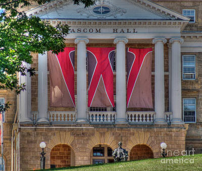 Abraham Lincoln Photograph - Bascom Hall-on Wisconsin by David Bearden