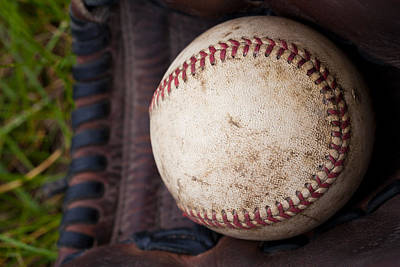 Baseball And Glove Print by David Patterson