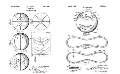 Player Drawing - Baseball Basketball Patent Illustration by Dan Sproul