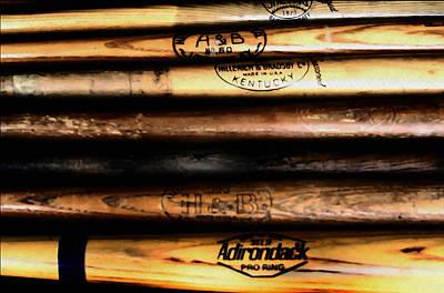 Bat Digital Art - Baseball Bats by Bill Cannon
