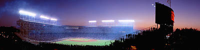 Chicago Cubs Stadium Print featuring the photograph Baseball, Cubs, Chicago, Illinois, Usa by Panoramic Images