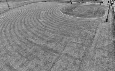 Baseball Field In Black And White Print by Dan Sproul