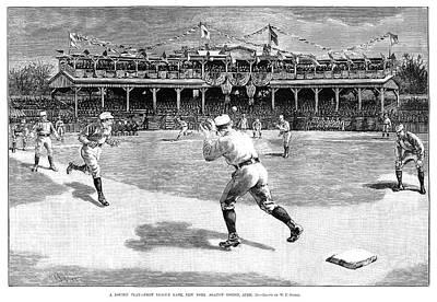 Base Path Painting - Baseball Game, 1886 by Granger