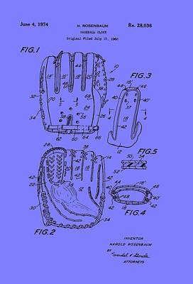 Baseball Drawing - Baseball Glove Patent 1974 by Mountain Dreams