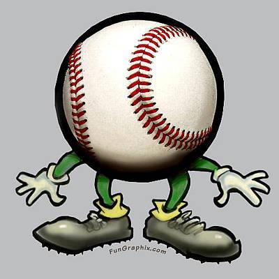 Baseball Digital Art - Baseball by Kevin Middleton