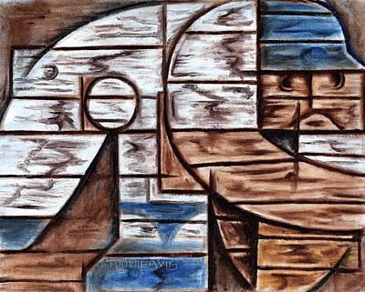 Baseball Painting -  Baseball Pitcher Backstop Art Print by Tommervik