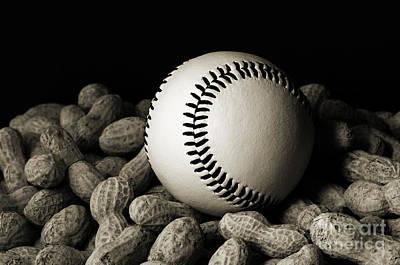 Baseball Season Photograph - Baseball Season Bw by Andee Design