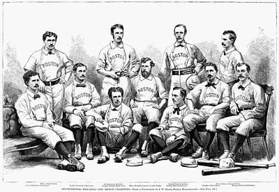Baseball Painting - Baseball Team, 1874 by Granger