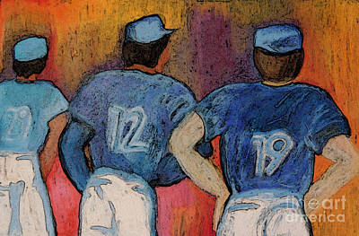 Bluejay Painting - Baseball Team By Jrr  by First Star Art