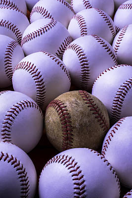 Baseballs  Print by Garry Gay