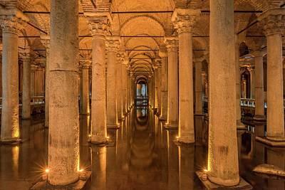 Basilica Cistern Print by David Parker