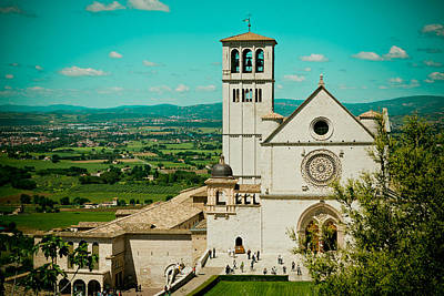 Basilica Of San Francesco Assisi  Print by Raimond Klavins