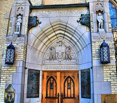 University Of Notre Dame Photograph - Basilica Of The Sacred Heart Entrance by Dan Sproul
