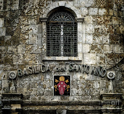 Window Signs Photograph - Basilica Sign by Adrian Evans