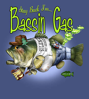 Basin Gas Print by Jim Baldwin
