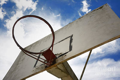 Basketball Hoop Print by Bernard Jaubert