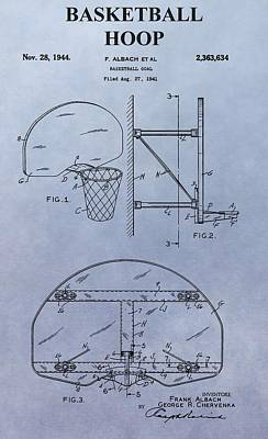 Basketball Hoop Print by Dan Sproul