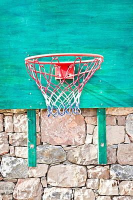 Net Photograph - Basketball Net by Tom Gowanlock