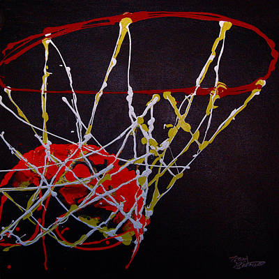 Basketball Print by Tracey Bautista