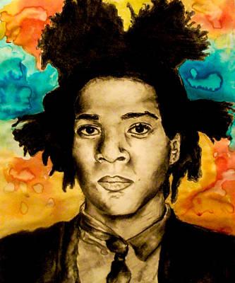 Basquiat Drawing - Basquiat by Ashley Henry