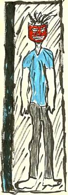 Basquiat Drawing - Basquiat - Doorways 11-001 by Mario Perron