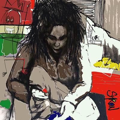 Basquiat Drawing - Basquiat by Helen Syron