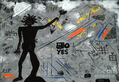R.i.p Mixed Media - Basquiat Rest In Peace - Tribute Number 7 by Scott Haley