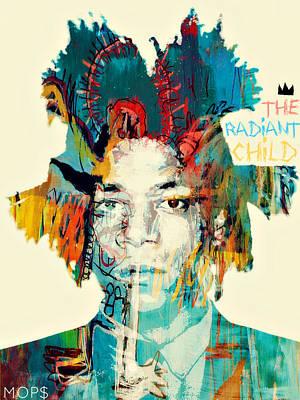 Basquiat The Radiant Child Print by Jessica Echevarria