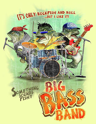 Bass Band Print by Jim Baldwin