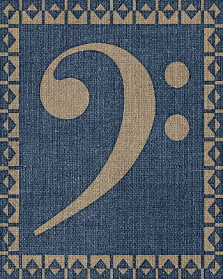 Bass Clef Fabric Print by Flo Karp