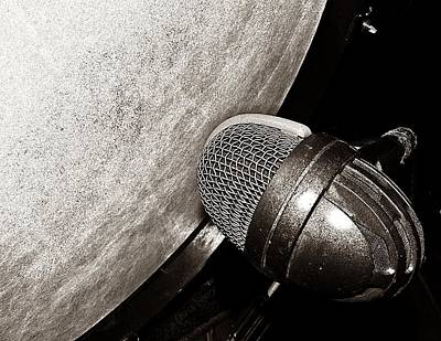 Bass Drum And Mic Print by Chris Berry
