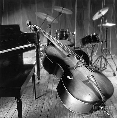 Jazz Photograph - Bass Fiddle by Tony Cordoza