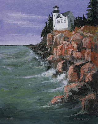 Bass Harbor Lighthouse Original by Jerry McElroy