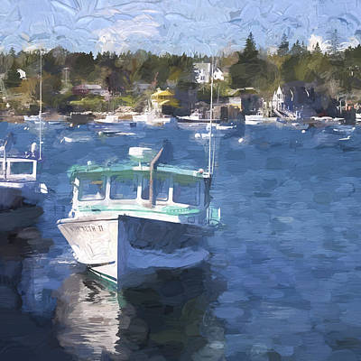 Down East Maine Photograph - Bass Harbor Maine Painterly Effect by Carol Leigh