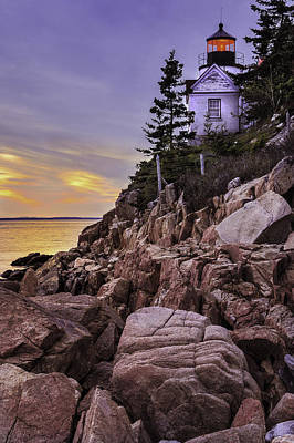 Desert Island Photograph - Bass Head Lighthouse by Thomas Schoeller
