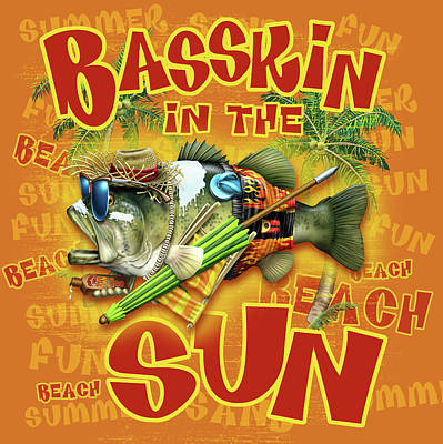 Basskin In The Sun Print by Jim Baldwin