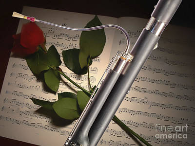 Bassoon Music Instrument Photograph In Color 3406.02 Print by M K  Miller