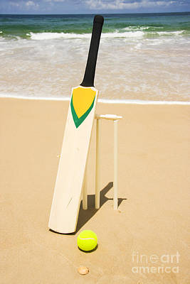 Cricket Photograph - Bat Ball And Stumps by Jorgo Photography - Wall Art Gallery