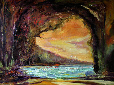 Painting - Bat Cave St. Philip Barbados  by Julianne Felton