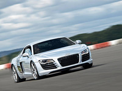 Racecars Photograph - Bat Out Of Hell - Audi R8 by Gill Billington